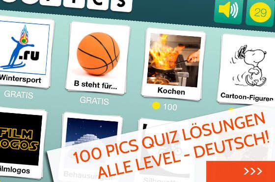 100 Pics Quiz Lösungen